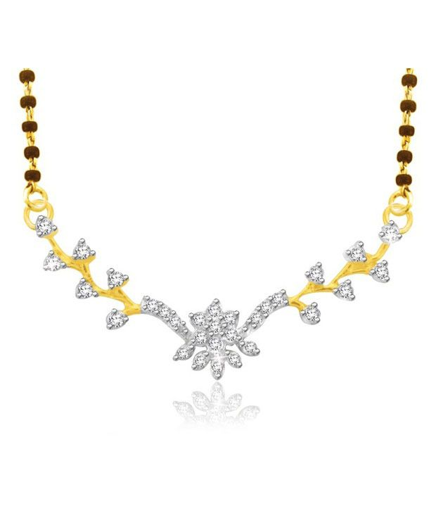 Sparkles 0.12ct. Diamond & 18kt Gold Beautiful Mangalsutra