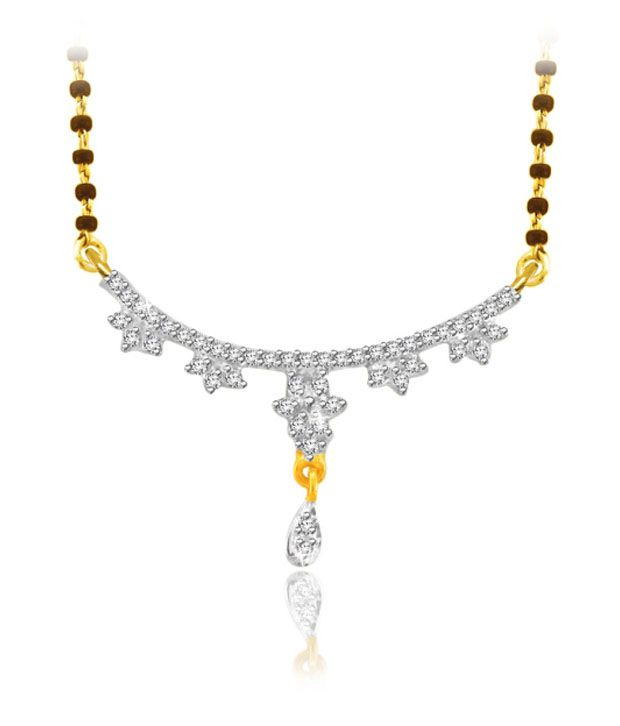 Sparkles 0.10ct. Diamond & 18kt Gold Charming Mangalsutra