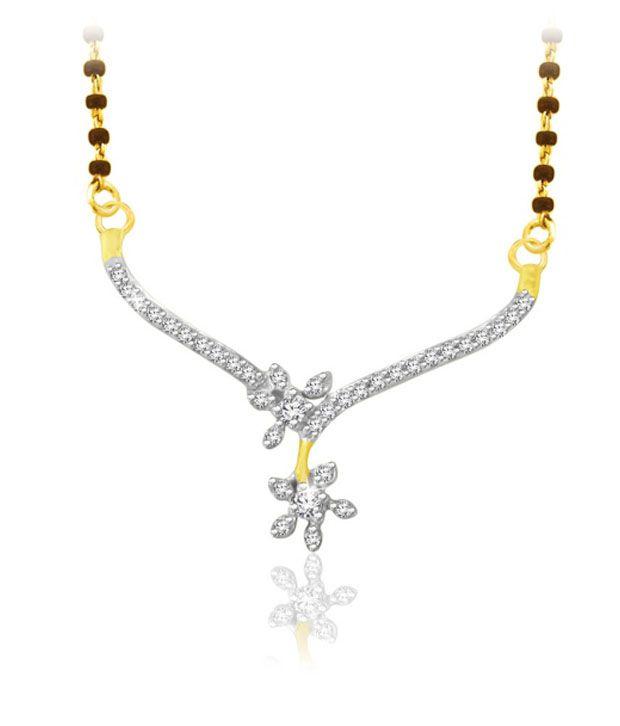 Sparkles 0.10ct. Diamond & 18kt Gold Floral Elegance Mangalsutra