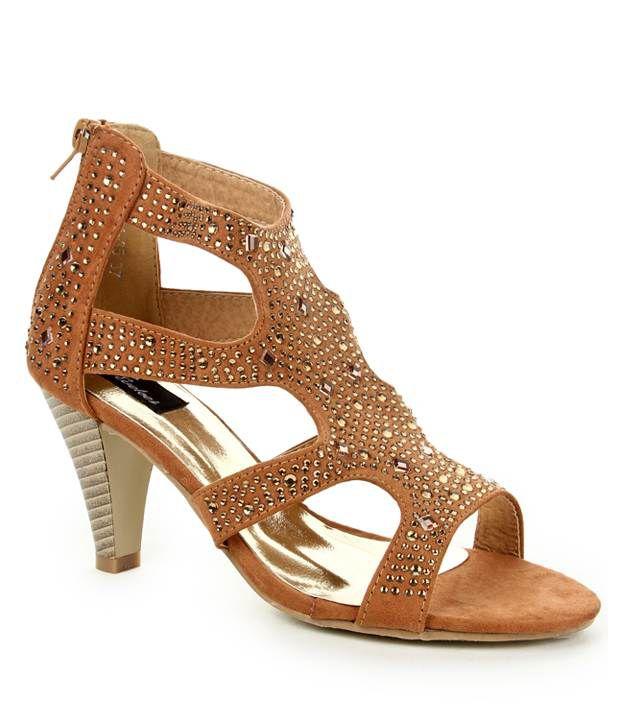Evetoes Camel Heel Sandals
