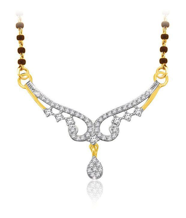 Sparkles 0.22ct. Diamond & 18kt Gold Teardrop Mangalsutra