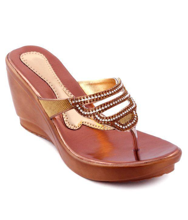 Kielz Superb Copper Slip-on Heels