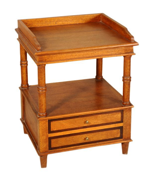 Simple Wooden Side Tables ~ Sheesham wood simple end table buy
