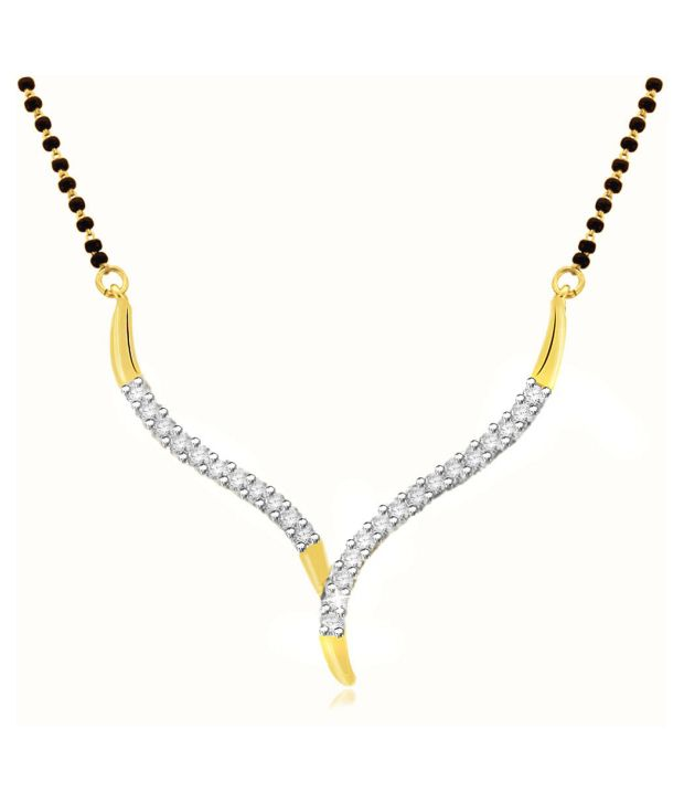 Sparkles 0.24ct. Diamond & 18kt Gold Elegant Mangalsutra