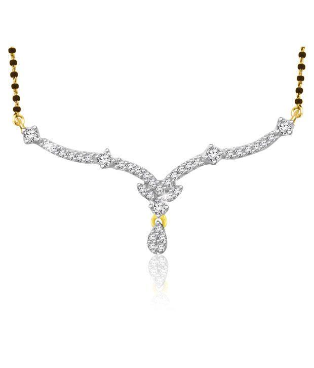Sparkles 0.15ct. Diamond & 18kt Gold Pretty Mangalsutra