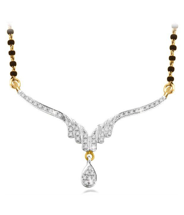 Sparkles 0.12ct. Diamond & 18kt Gold Mangalsutra