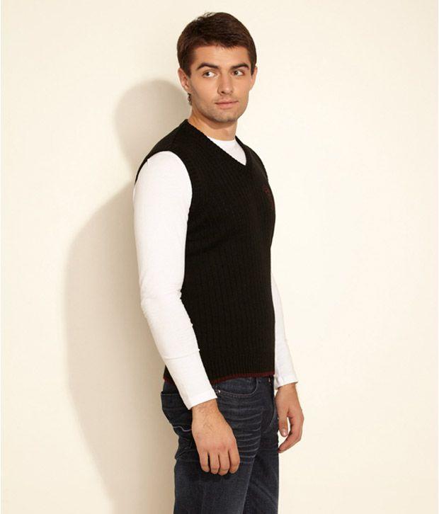 8b9a3095524 Wrangler Black Striped Half Sweater Wrangler Black Striped Half Sweater ...