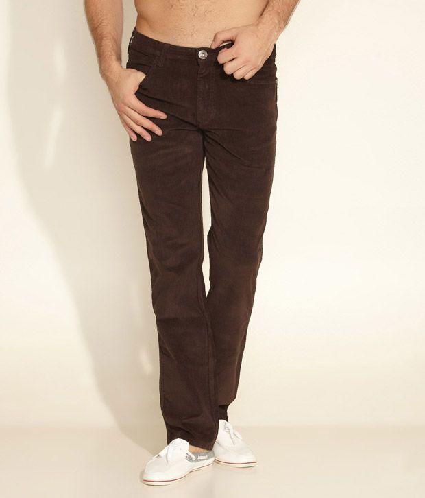 Wrangler Brown Soft Corduroy Trouser
