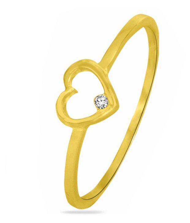Sparkles 0.03ct. Diamond & 18kt Gold Gorgeous Heart Ring