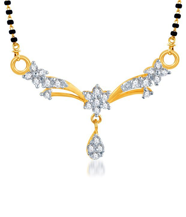 Sukkhi Graceful Gold & Rhodium Plated CZ Mangalsutra (Mangalsutra Mala may vary from the actual image)