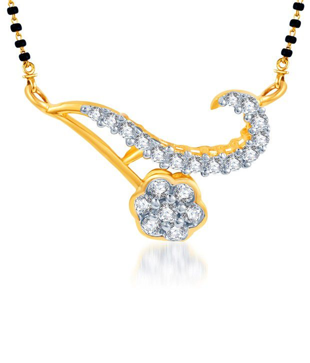 Sukkhi Floral Beauty Gold & Rhodium Plated CZ Mangalsutra (Mangalsutra Mala may vary from the actual image)
