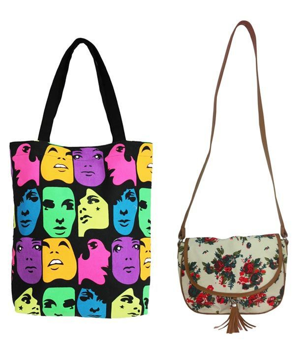 Carry On Bags Dashing Tote & Sling Bag Combo