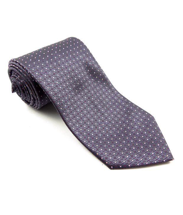Tossido Grey Abstract Design Tie