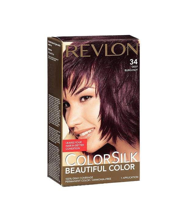Revlon Colorsilk Ammonia Free Hair Color- 34 Deep Burgundy 129Ml ...