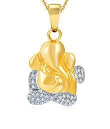 Sukkhi Delightful Gold & Rhodium Plated CZ Ganesha Pendant