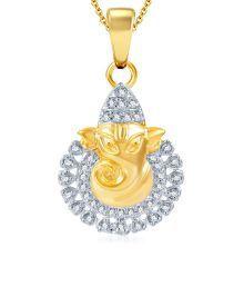 Sukkhi Dazzling Gold & Rhodium Plated CZ Ganesha Pendant