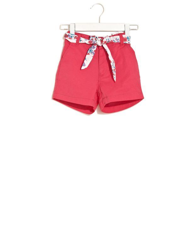 ELLE KIDS Summer Shorts With Floral Sash For Kids