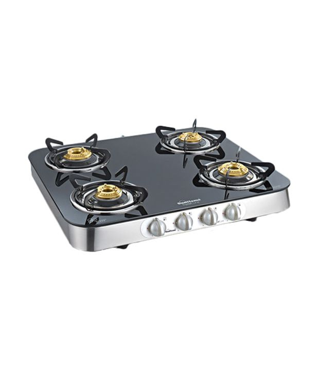 Sunflame 4B-SS Ai Crystal Curve Toughened Glass Cooktop