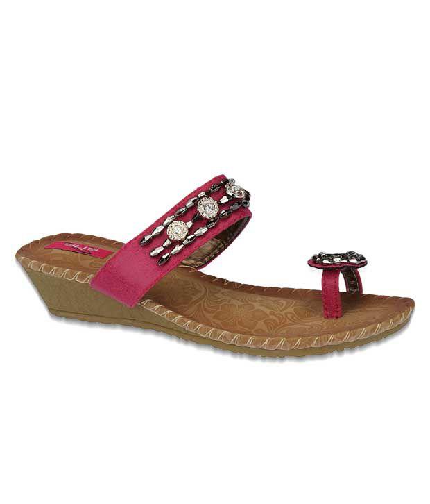 Aria Alluring Pink Slip-on Heels