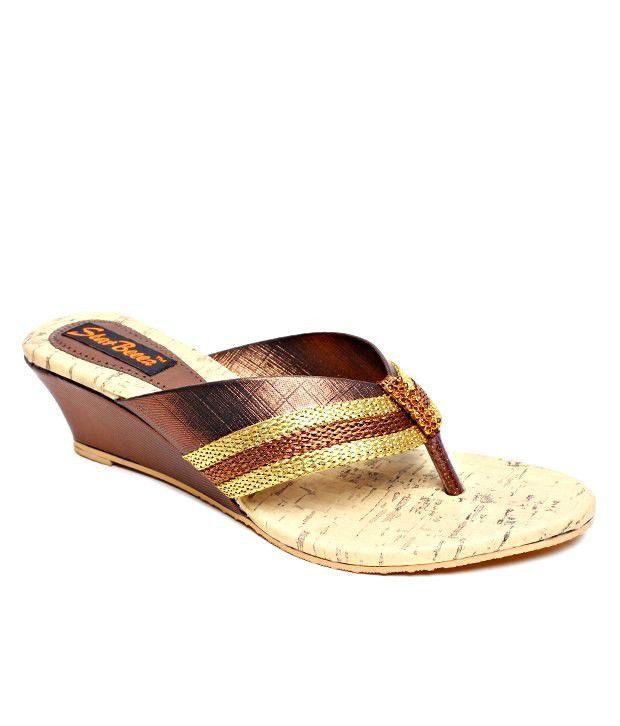 Star Beeez Copper Slip-on Heels