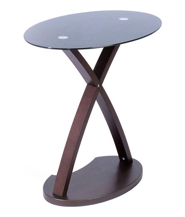 Nilkamal @home Betty Nest Table Black  Glass  Wenge