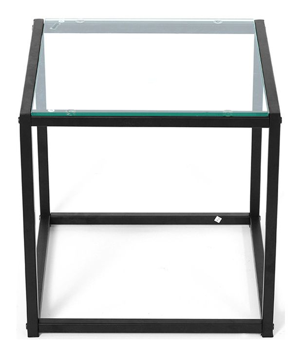 Nilkamal @home Liberty Side Table Glass  Top Black
