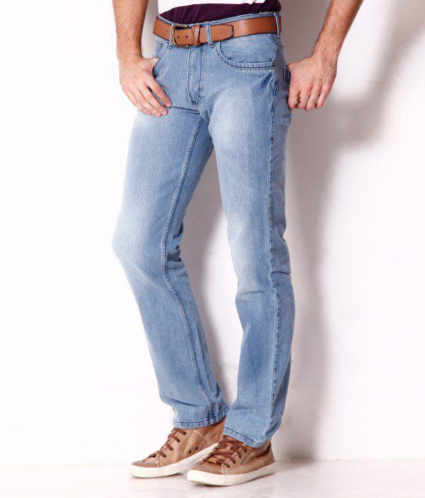 Newport Trendy Light Blue Faded Jeans