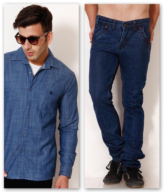682b248a88 British Terminal Dark Blue Basic Jeans with Denim Shirt Combo - Buy British  Terminal Dark Blue Basic Jeans with Denim Shirt Combo Online at Best Prices  in ...