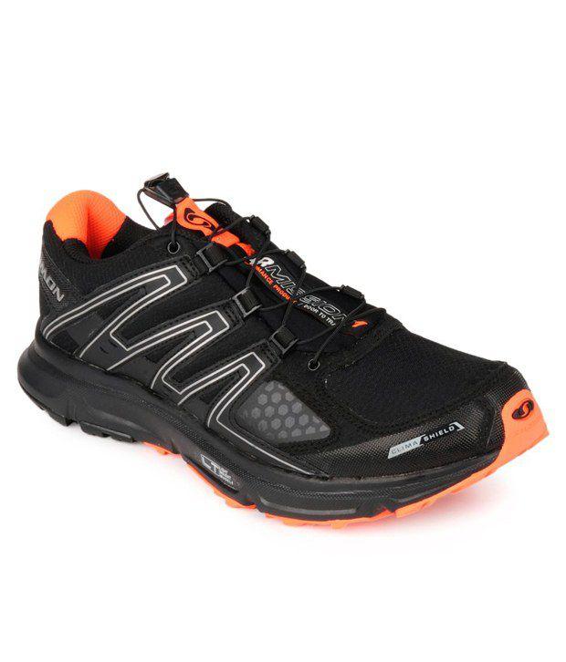 halpa myynti myyntipiste myytävänä sulavalinjainen Salomon XR Mission CS Black Running Shoes