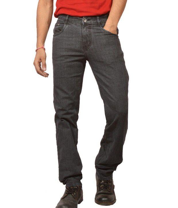 Louppee Charcoal Grey Basic Jeans