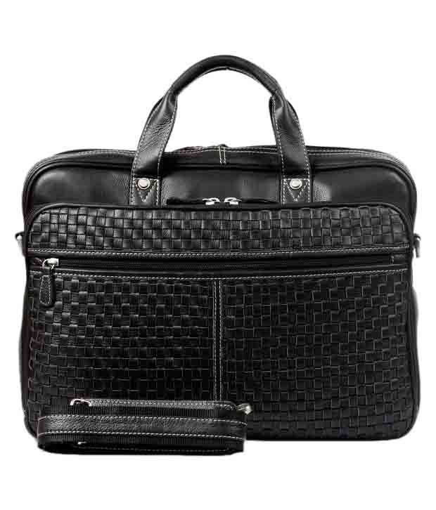 Brune Men Black Office Bag
