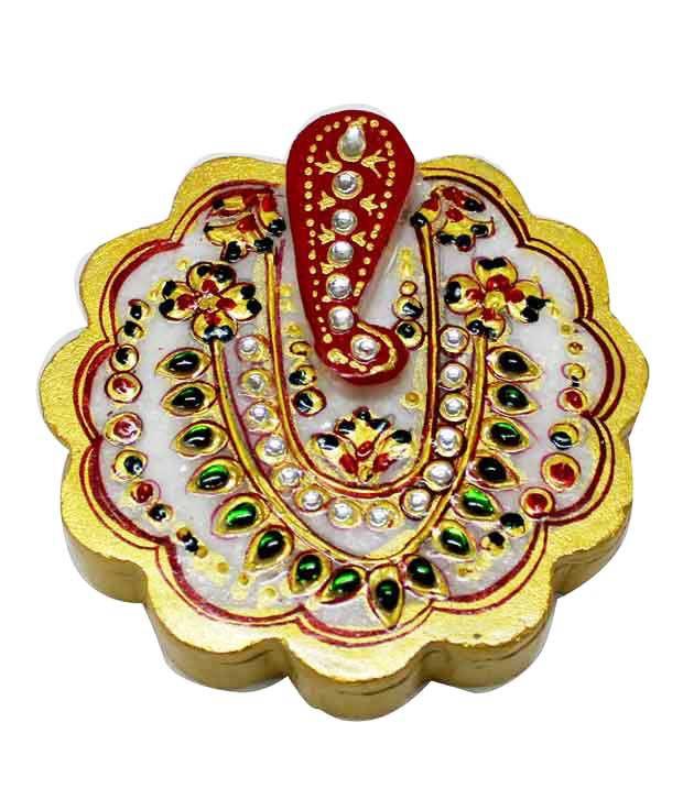 Dekor World Marble Lord Ganesha Round Roli Tika