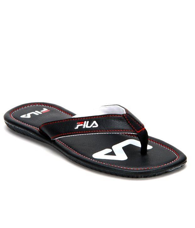2e43bd174aea Fila Hawana Black Slippers Price in India- Buy Fila Hawana Black Slippers  Online at Snapdeal