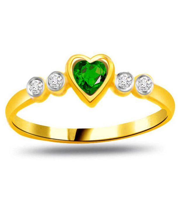 Surat Diamond 0.06 Cts. Diamond 18Kt Yellow Gold Coloured Stone Ring