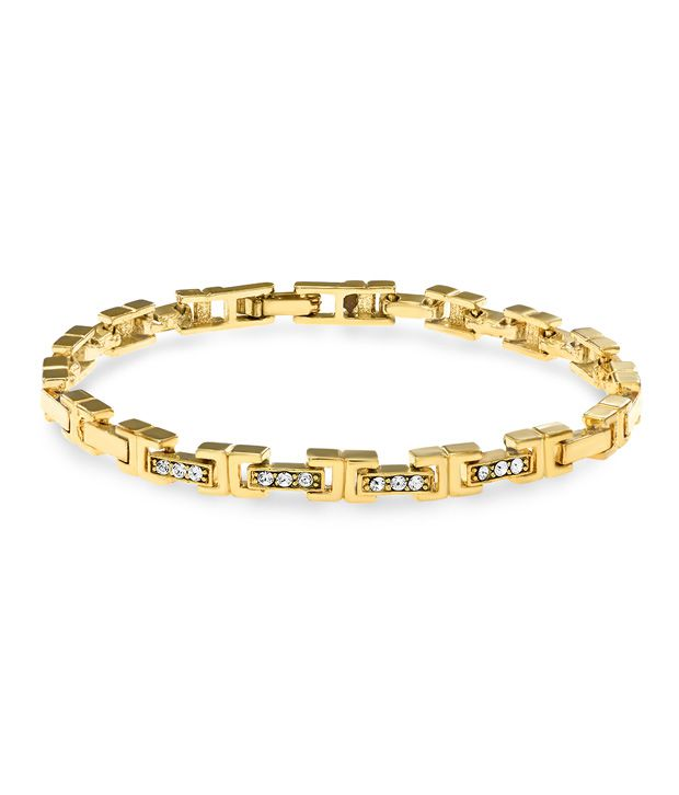 Mahi Daily wear fashion Bracelet of brass alloy with crystal for Women BR1100197G