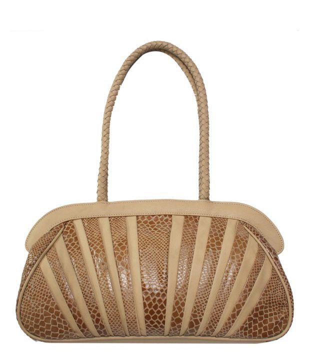 Chanter BB620 Beige Leather Shoulder Handbag