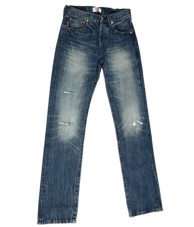 Denim,Levis Blue Faded Jeans