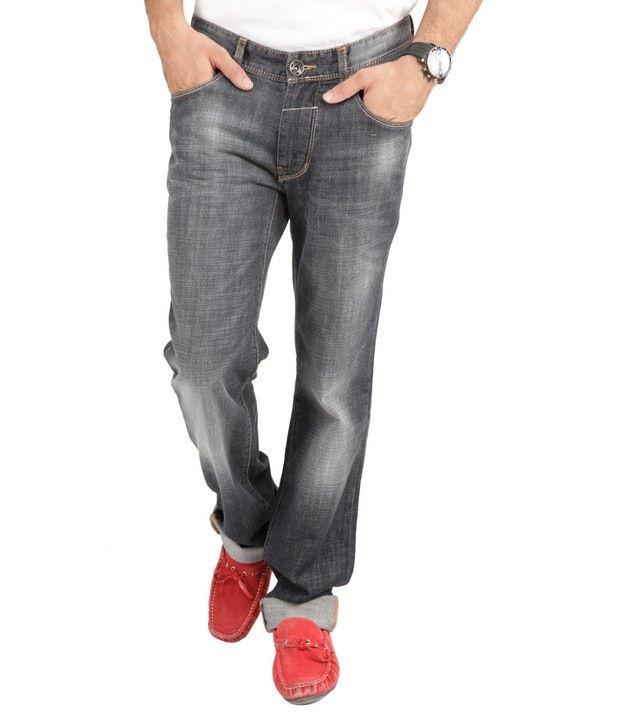 Denim,Numero Uno Black Faded Jeans