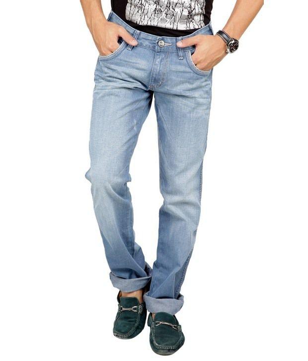 Denim,Wrangler Blue Faded Jeans