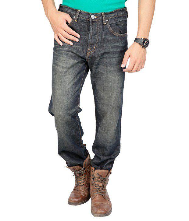Denim,Web Jeans Blue Faded Jeans