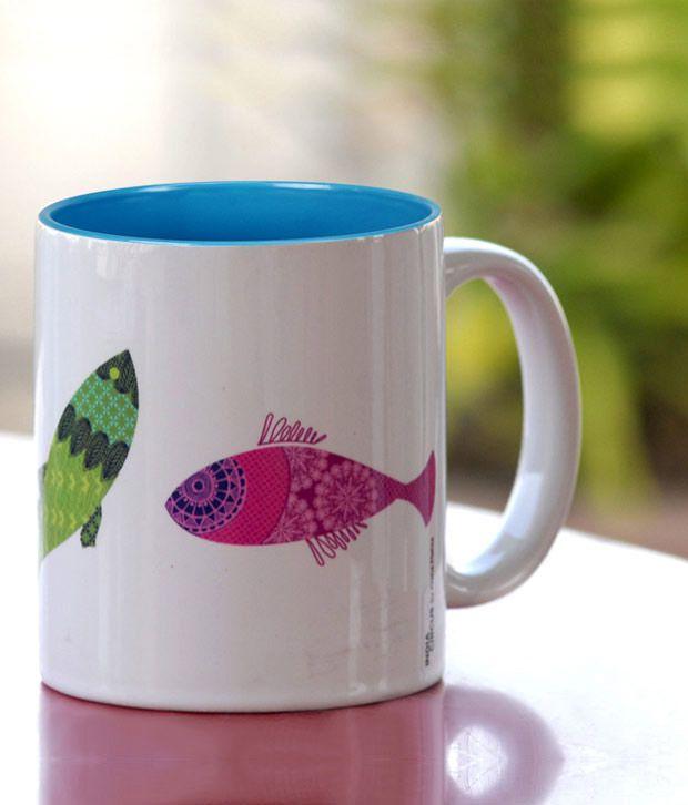 India Circus Kuheli Colourful Fish Mug