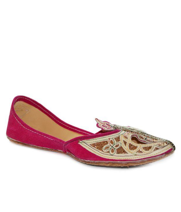 Desire of Shoes Pink Pakistani Jutti