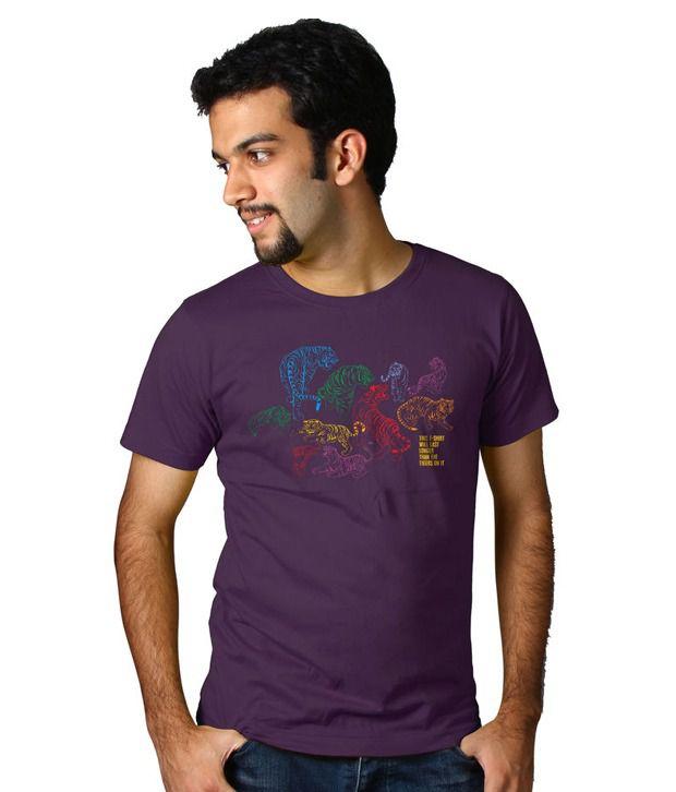 Tantra Purple Round Neck T Shirt
