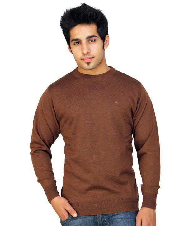 Monte Carlo Brown Round Neck Sweater