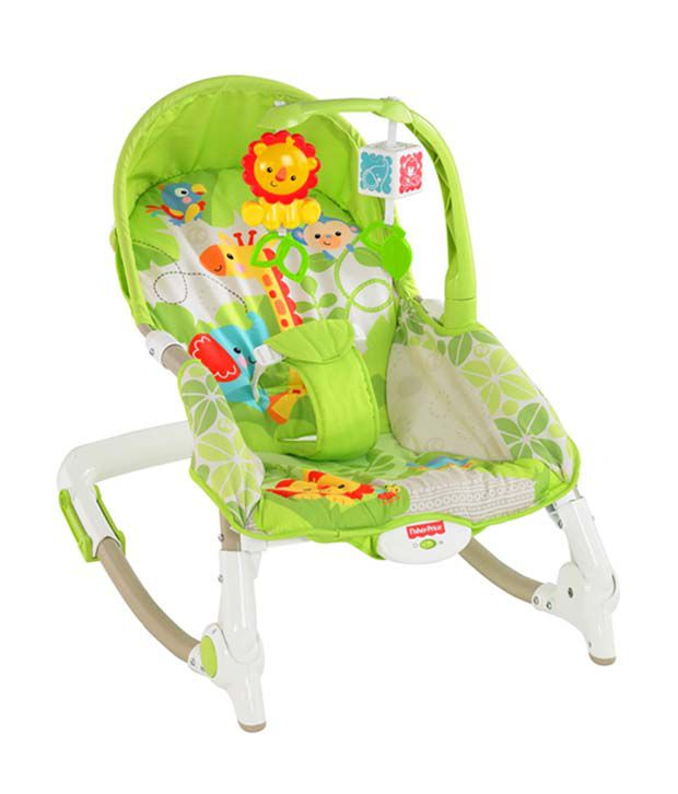 Fisher price newborn to toddler rocker bouncer buy for Porte bebe toys r us