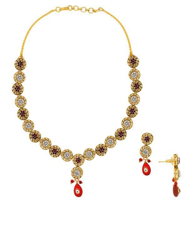 Spargz Bollywood Style Fine Necklace Set