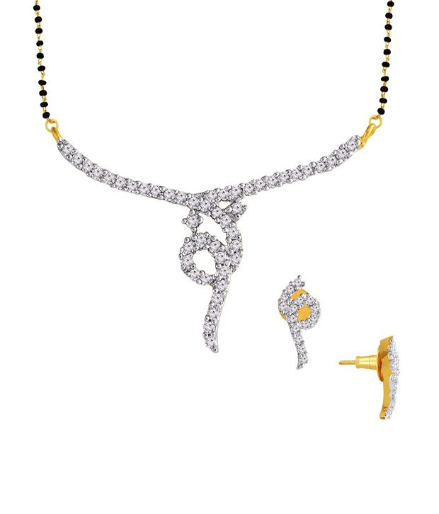 Spargz Lovely Mangalsutra Set Studded with CZ