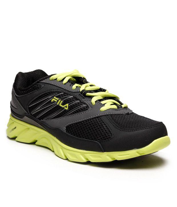 Fila Black & Lime Green Running Shoes
