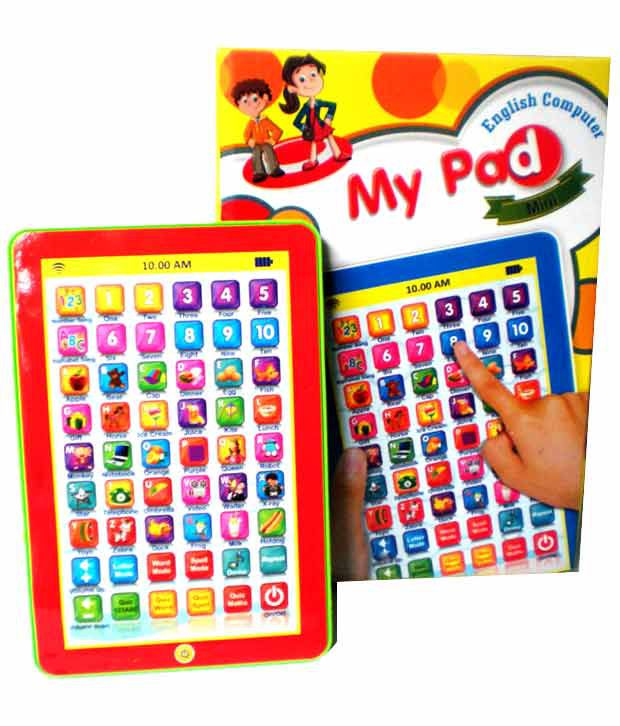 PraSid Mini My Pad English Learner Computer kids educational playing toy