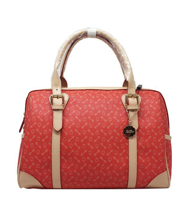 Eliza Crown New Special European And American Retro Fashion Handbag - Orange